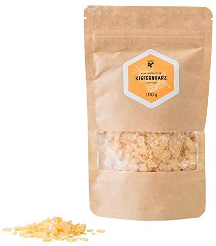 Kiefernharz aus Portugal, 100g natürliche Baumharz Harzklumpen (Kolophonium), leicht zu pulverisieren, für Balsame oder Bienenwachstücher