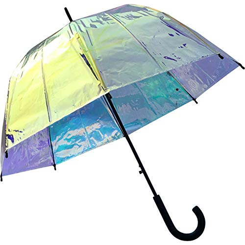 Paraplu klok met automatische Shiny - transparant bont