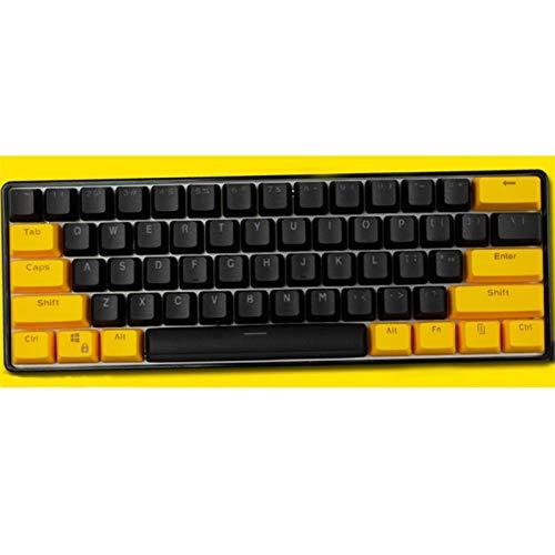 ZJP-dzsw Keycaps 61/87 Keys Batman Theme Theme Height PBT Keycaps pour Clavier mécanique Keyboard (Color : 61 Keys)