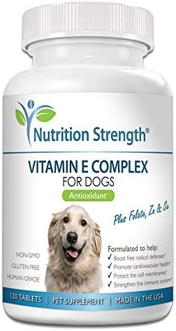 Nutrition Strength Vitamin E for Dogs Promote Cardiovascular Health Support Cell Membranes Vitamin product image