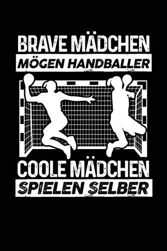 Coole Mädchen spielen selber: Notizbuch / Notizheft für Handball Handball-Fan Handball-Spieler-in A5 (6x9in) liniert mit Linien