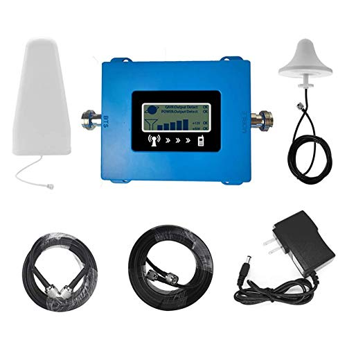 LWKBE Verstärker 4G LTE-Signal 800 Band20 / 1800 Band3 / 2100 B1 / 2600 Band7 Repeater Signalfrequenz-Funkantenne Kit Professional Mobile Repeater,B20/800mhz