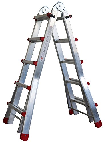Escalera Articulada Telescópica Plegable 5+4 en 2 Tramos Profesional de Aluminio. Escada...