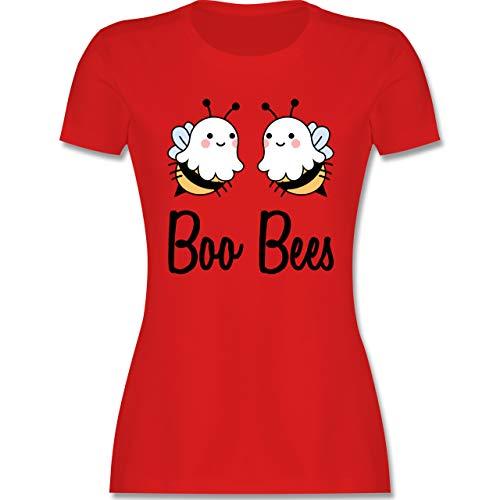 Halloween - Boo Bees - schwarz - M - Rot - XXL Tshirt Frauen - L191 - Tailliertes Tshirt für Damen und Frauen T-Shirt