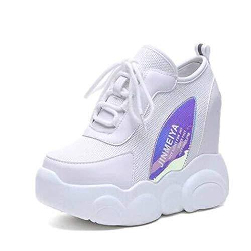 Zapatillas De Deporte con Plataforma De Cuña para Mujer Malla Transpirable Deportes De Primavera Running Zapatos De Senderismo Zapatillas De Deporte De Talón Oculto Cómodas Y Casuales