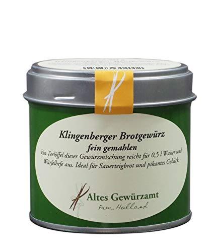 Altes Gewürzamt Klingenberg Brotgewürz fein gemahlen 60 Gramm - Ingo Holland