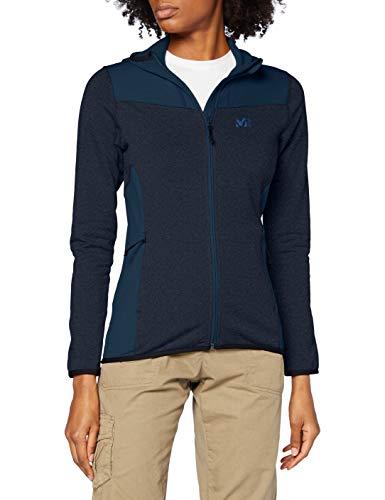 MILLET Seneca Tecno II Hoodie W Fleece Jacket, Womens, H Orion Blue/Orion Blue, M