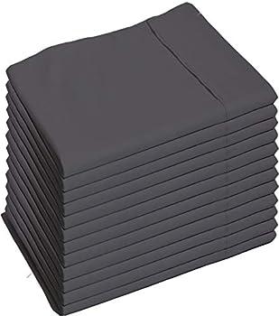Glarea Microfiber Pillow Cases Dark or Charcoal Grey Standard Queen  Bulk Pack of 12