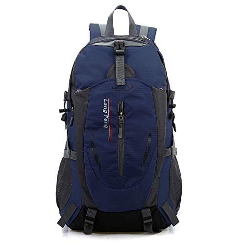 アウトドア 登山 バックパック, 40L大容量 防水 軽量 多機能 リュック 背中通気スポーツバッグ 男女兼用 ダークブルー