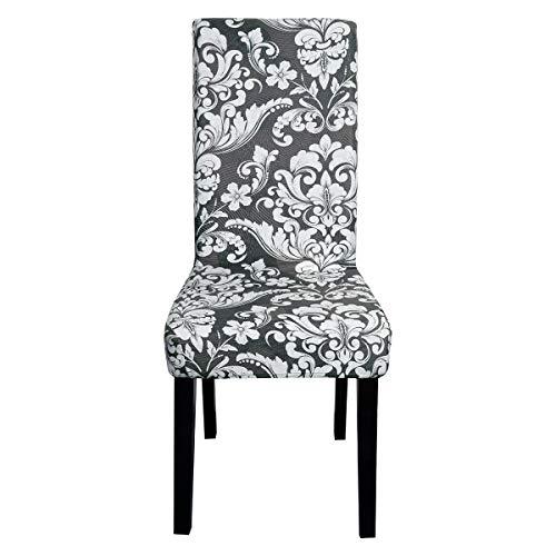 Topchances Fundas de silla de elastano elástico para comedor, extraíble y lavable, protector de silla de tela para hotel, banquetes, cenas, reuniones, celebraciones (Européen 17, cuatro paquetes)