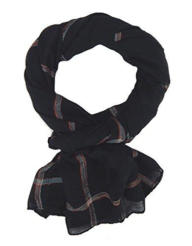 Ella Jonte Écharpes foulard d'homme élégant et tendance de la dernière collection by Casual-style noir