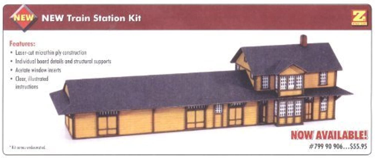SPECIAL SALE at 35% OFF  MicroTrains Z Accessory  Train Station Kit by Micro Trains