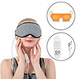 Heated Eye Mask 3D Hot Steam Eye Massager with Heat Relieve Puffy Eyes,Dark Cycles,Dry Eyes,Tired Eyes Portable USB with Time&Temp Control Warming Eye Massage Gift for Women and Men Kids