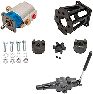 ToolTuff Log Splitter Build Kit: 11 GPM Pump, Mount, A7 Auto Return Valve, Bolts, Coupler (for 3/4