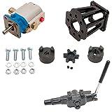 ToolTuff Log Splitter Build Kit: 11 GPM Pump, Mount, A7 Auto Return Valve, Bolts, Coupler (for 3/4' Engine Crankshaft)