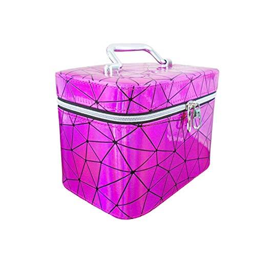 JLYLY Sac Cosmétique Femelle Portable De Grande Capacité Bagage À Main WC Stockage De Cas Cosmétique,Pink 1,L