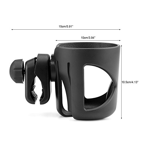 Fdit - Porta bicchieri regolabile universale per passeggino, sostegno per contenitori di liquidi.