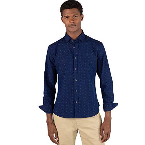 El Ganso 2 Camisa casual, Azul (Indigo 0062), Large para Hombre