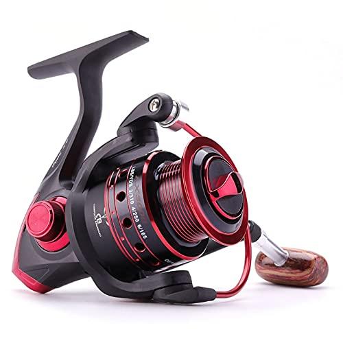 HXSAF Rollo de Pesca de Hilado 12BB + 1 Bolas de rodamiento 500-9000 Series Metal Bobina de Metal Spinning Reel Boat Rock Wheel (Bearing Quantity : 13, Color : Red)