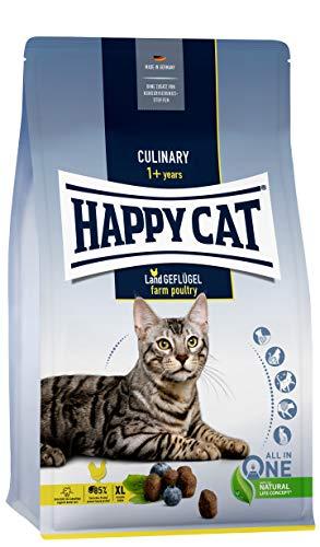 Happy Cat 70570 - Culinary Adult Land Geflügel - Katzen-Trockenfutter für ausgewachsene Katzen und Kater - 4 kg Inhalt