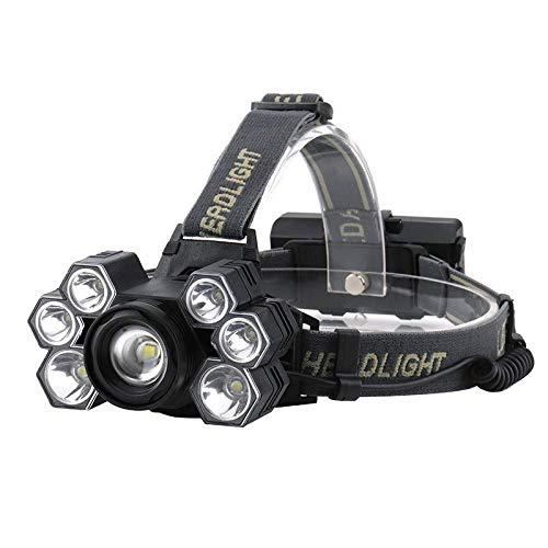 LBBL 7 LED-koplampen met sterke lading, 3T6 buitenshuis, lang bereik, zoom, 300 meter, jacht, vissen, werk