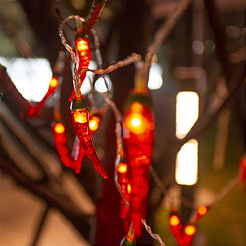 10M Chili String Lights, 80 LEDs Waterproof Fairy Lights for Patio Backyard Gazebo Cafe Bedroom Party Decorative