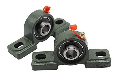 """Eowpower 2 Pieces UCP202-10 Pillow Block Bearing 5/8"""" Inside Diameter w/Set Screw Lock"""