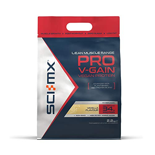 SCI-MX Nutrition Pro V-Gain Protein Powder, Plant Based, 2.2 kg, Vanilla,...