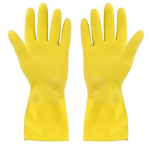 BIGBIGWORLD Dicke, gelbe Gummihandschuhe für die industrielle Küche zum Reinigen und Spülen