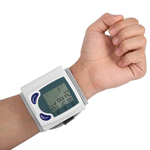 SNAPCOM Automatic Digital Sphygmomanometer Blood Pressure Cuff Wrist Monitor BP Machine (White)
