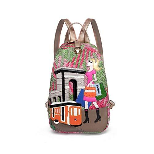 Nieuwe Vrouwen rugzak mode reistas multifunctioneel borduurwerk mooie rugzak dames handtassen kunnen als borsttassen schoudertas vrouwen
