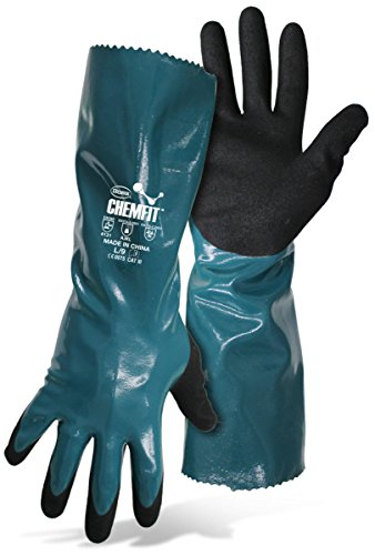 Boss ChemFit 1UH7013 Chemical Resistant and liquid proof work gloves, Sizes M-XXL (1, Medium)
