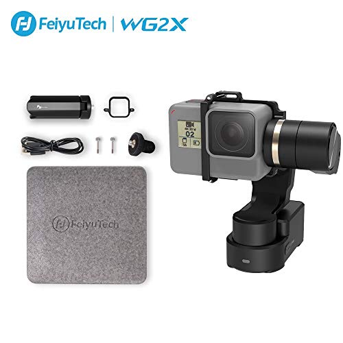 FeiyuTech WG2X 3-Axis Gimbal Stabilizer for GoPro Hero 7/6/5/4/3, DJI Osmo Action, Yi Cam 4K, AEE, SJCAM Sports Cams Action Camera Wearable Stabilizer Gimbal