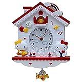 GAOJIN Coucou-1 Pcs Coucou Horloge Murale Suspendue pour Artesanat Salon Accueil Restaurant Cafe Hôtel Décor Chic Balancez Coucou Horloge Murale,Rouge
