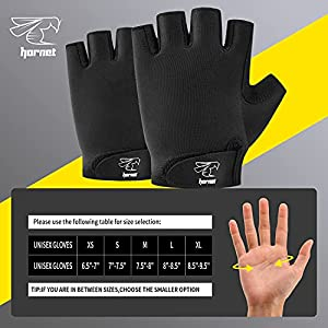 """Hornet Watersports Rowing Gloves Ideal for Indoor Rowing, Sculling, Kayak, SUP, Outrigger Canoe, Dragon Boat and Other Watersports (XL (Fits 8.5""""-9.5"""")), Black"""