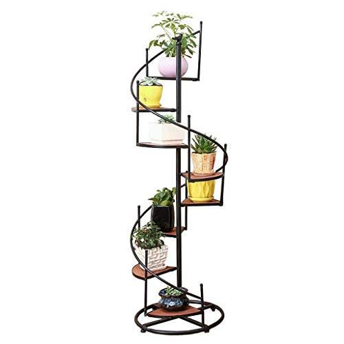 Regal Blumenständer Blumentreppe Blumenregal Pflan Blumenhalter Blumenständer Pflanzenständer 6/8 Stufen Leiter drehen Blumenständer mit Holz und Eisen Metall - Gartentreppen Blumentöpfe Halter Innenl