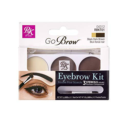 Ruby Kisses GoBrow Eyebrow Kit (RBKT01 - Black Dark Brown)