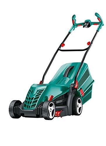 Bosch ARM 33 - Rasenmäher (Manual lawn mower, Rotary blades, Electric AC, 20-70, Schwarz, Cyan)
