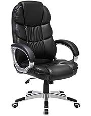 Songmics Bureaustoel Draaistoel Computerstoel SGS En12520, Extra Dikke Bekleding, Zwart
