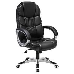 SONGMICS Office Chair Chef Chair Draaistoel Computerstoel SGS EN12520 Stoel hoogteverstelling bureaustoelbekleding, OBG24B*