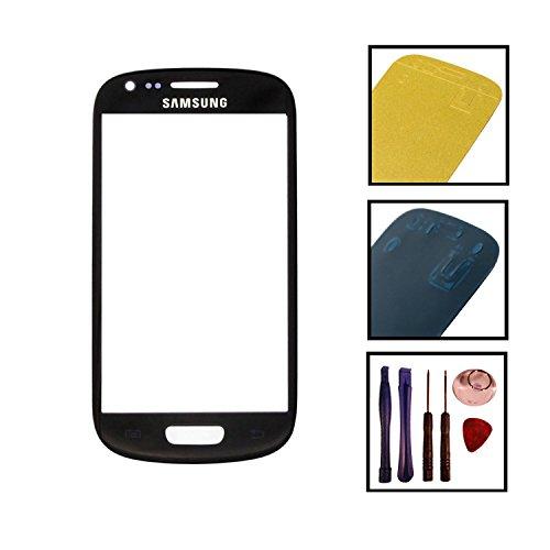 Reparatur Set Samsung i8190 Galaxy S3 mini Front Glas Touchscreen Schwarz mit Kleber und Werkzeug (Artikelstandort Deutschland)