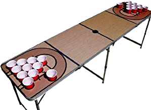 Basketball Court NBA Beer Pong Table with Predrilled Cup Holes
