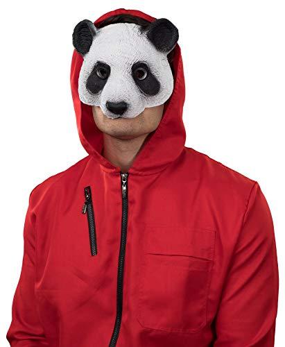 narrenkiste O40865 - Mscara de panda, color blanco y negro