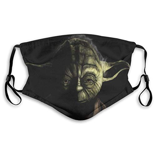 Mundschutz Star-Wars Yoda Master Face Cover Mouth Cover for Adult Polyester DustProof Waterproof Breathable Washable Reusable Outdoors
