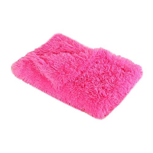 Wandskllss Cama de felpa para mascotas, gato, manta para dormir, manta para cachorro, manta suave para perrera, colchoneta de doble capa para mascotas (J/S)