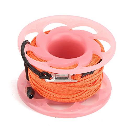 Worii Tauchschnurrad, Kunststoffschnurrad, Drahtspule Doppelköpfe Haken 3-Farben-Führungsgewindespule, für Tauchschnorchelfotografie(Pink)