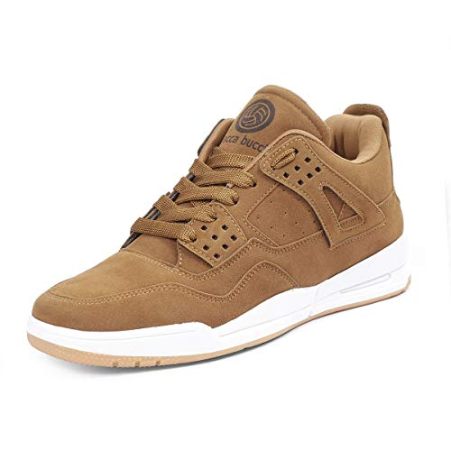 Bacca Bucci® Men's Ultraforce Mid-top Athletic-Inspired Retro Fashion Casual/Outdoor Sneakers for Men-Tan