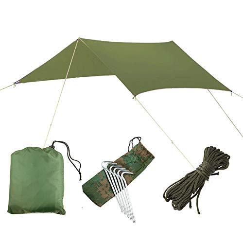 iFCOW Strandschutzplane, wasserdicht, UV-beständig, faltbar, tragbar, grün,...