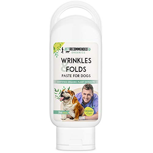 Vet Recommended - Organic Vegan Wrinkle Cream for Bulldogs - French Bulldogs, Shar Pei's - Clean and Protect Wrinkles and Folds (USA Made - 2oz - 59ml)