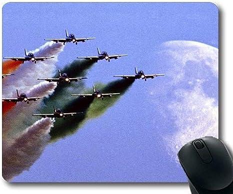 Aviones de Combate de la Fuerza aérea India HD, Alfombrilla de ratón para Juegos, Caza en el Viento, Alfombrilla de ratón con Bordes cosidos